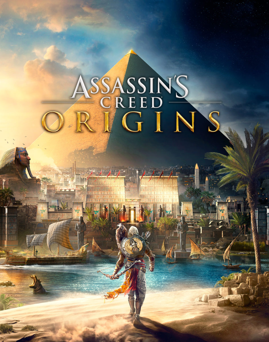 Copertina di Assassin's Creed Origins.