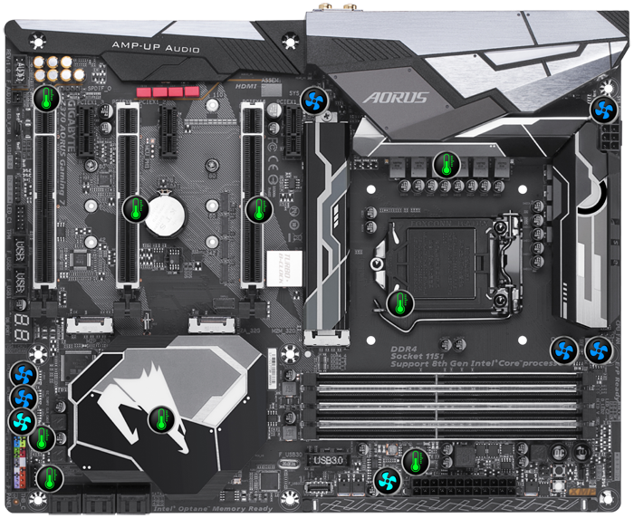 Gigabyte Z370 AORUS Smart fan