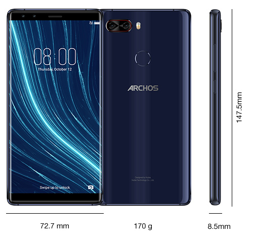 Dimensioni Archos Diamond Omega