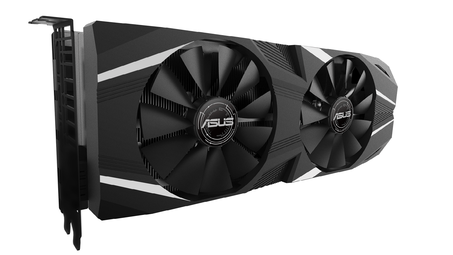 GeForce RTX 2060 Dual. Design da 2,7 slot e due ventole.